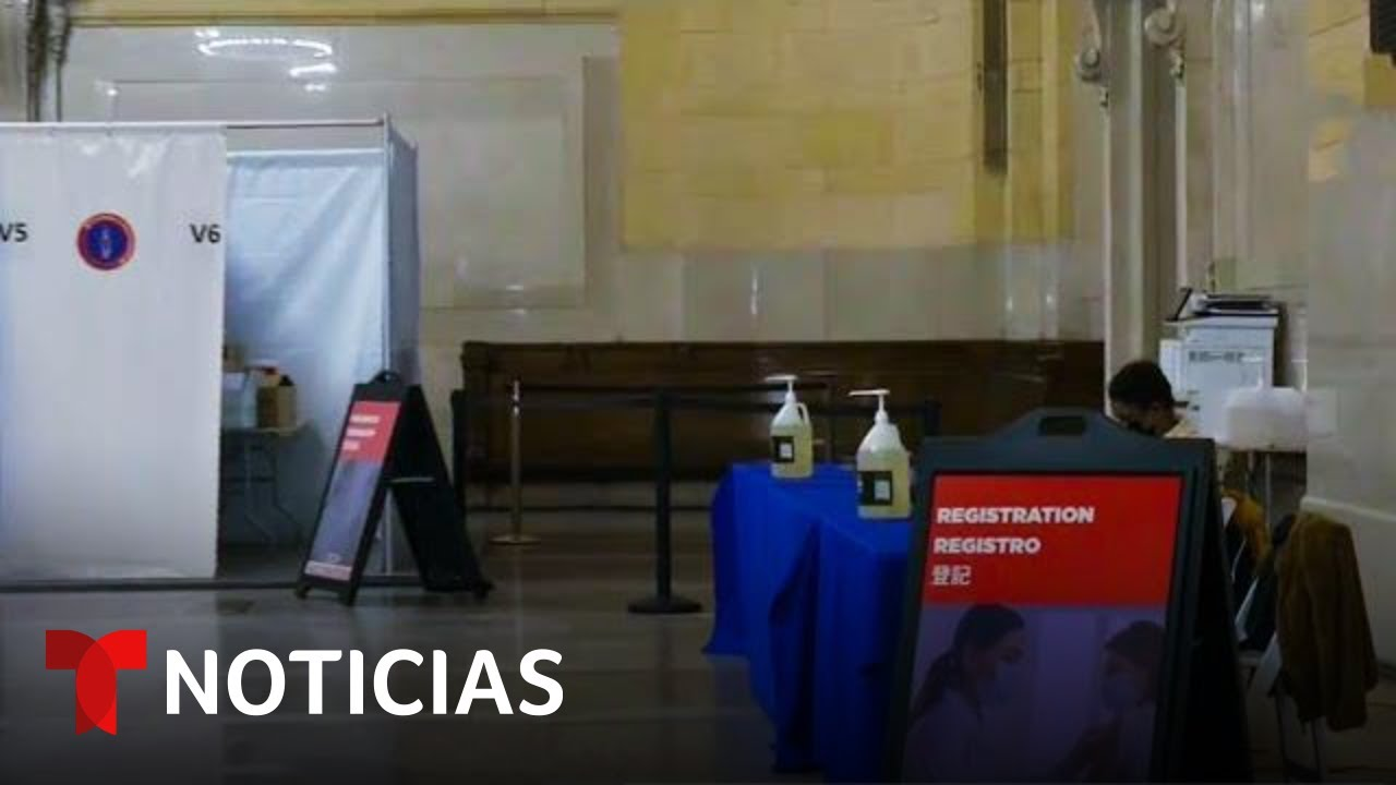 COVID-19: Nueva York abre centros de vacunación en el metro | Noticias Telemundo