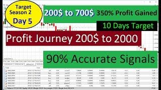 My Account 200$ to 700$ Gained  | 300% Profit Increased with Forex Trading | Forex Live Signals