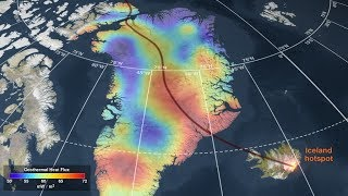 Geothermal Heat Flux Reveals the Iceland Hotspot Track Underneath Greenland