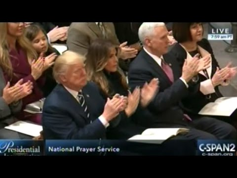 President Donald Trump  Attends Inauguration National Prayer Service At The National Cathedral