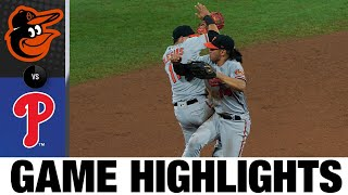 Chance Scisco erupts in 5-4 win vs. Phils | Orioles-Phillies Game Highlights 8/12/20
