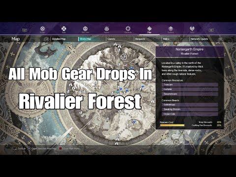 Sword Art Online Alicization Lycoris All Mob Gear Drops In Rivalier Forest |