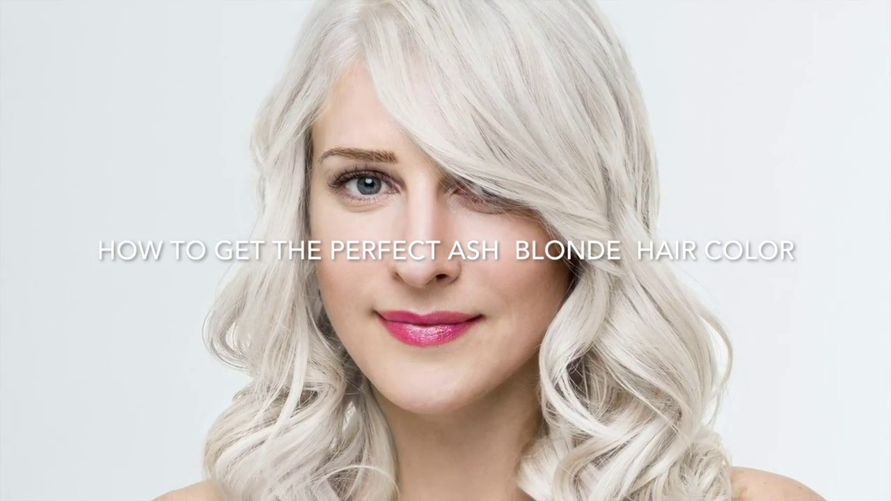 How To Get Ash Blonde Hair Color By Brittney Perez Youtube