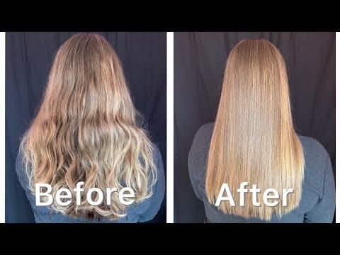 ASMR Relaxing Hair Styling/Straightening & Brushing *satisfying*