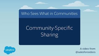 Who Sees What in Communities: Community-Specific Sharing