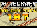 Minecraft duplication glitch 1.8.5/1.8.6/1.8.7 (UNLIMITED POWERED RAILS!)
