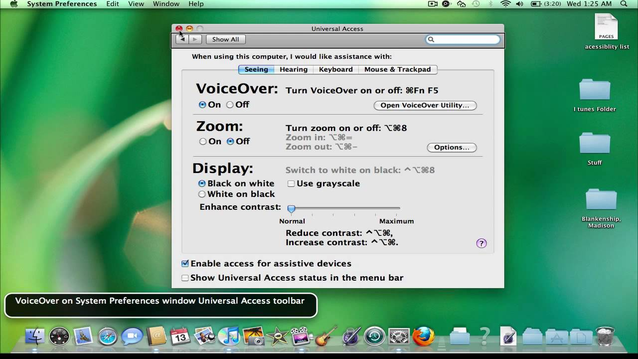 how to change the voice on macbook