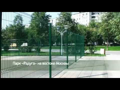 Забор и зеленой сварной сетки
