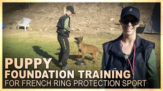 Puppy Foundation Training for French Ring Protection Sport with Bethany Preud'homme