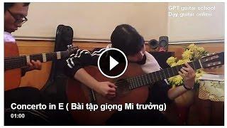 Concerto in E (Gpt guitar school)