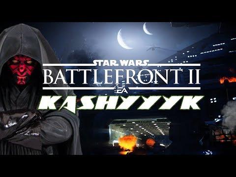 Star Wars Battlefront 2: Galactic Assault: Kashyyyk at Night - Close Game.