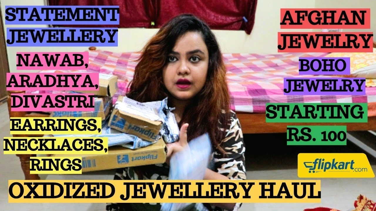 355995aa295187 Oxidized jewellery haul | Myntra jewellery haul | Flipkart jewelry haul |  Jewellery under Rs. 250 - c-book.info