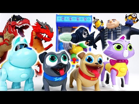 Thumbnail: Gru Blowed Up A Vending Machine~! Puppy Dog Pals Let's Find Surprise Eggs - ToyMart TV