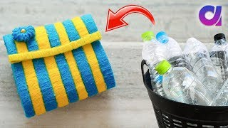 Best out of waste Plastic bottle Craft idea | Plastic bottle Purse | Artkala