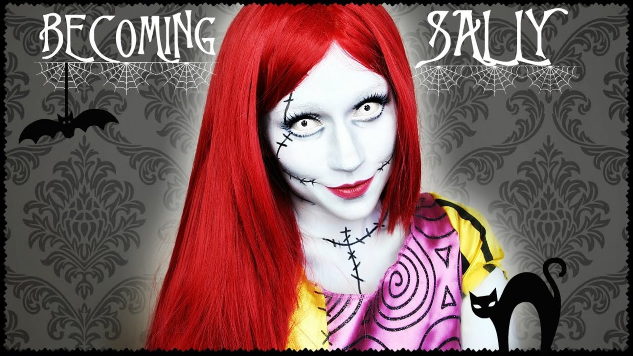 sally the nightmare before christmas makeup transformation - Sally Nightmare Before Christmas Wig