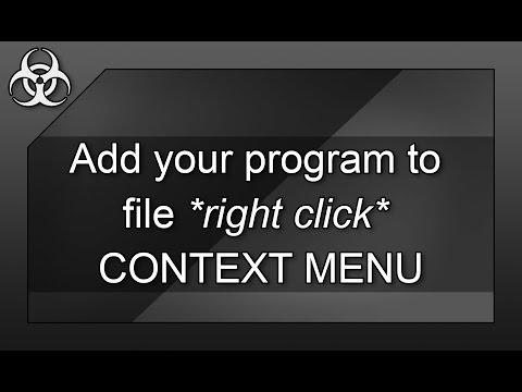 How to add your Program to CONTEXT MENU (right click) Windows Explorer & Registry Editor (regedit)