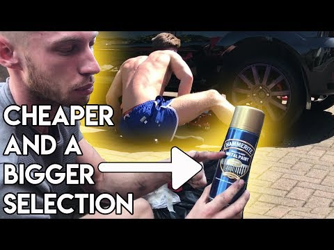 An Alternative To Buying Caliper Paint l Gold Calipers + Wheel Nuts!