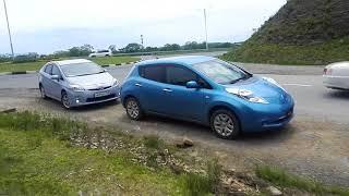 видео: Nissan leaf сравнение дальности 24квт с 30квт при почти одинаковой остаточной емкости батареи!
