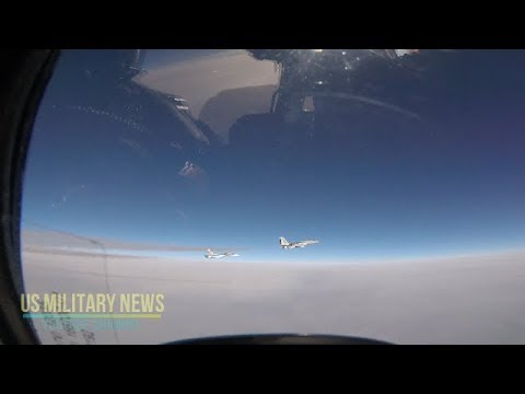 Watch an F-15 intercept a Russian Navy SU-30 in Europe