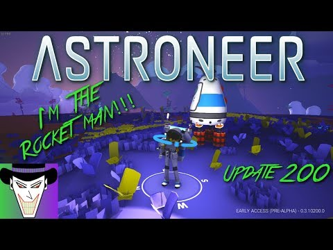I'm The ROCKET MAN!!!XD | Sky Diving Bases | Astroneer Ep. 5