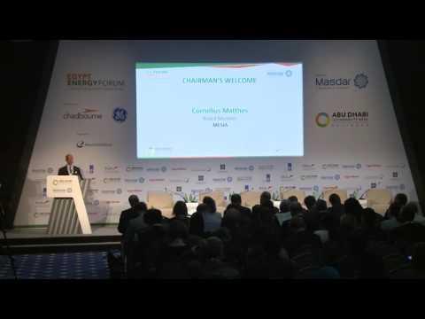 Chairman's Welcome Cornelius Matthes | Egypt Energy Forum