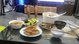 晚餐時間 在家簡單吃 快速料理3菜1湯 芋頭貢丸真是買對了|乾杯小菜超日常