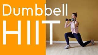 Dumbbell HIIT | FULL BODY HOME WORKOUT