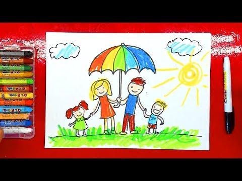 Как нарисовать спортивную семью
