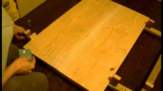 Homemade Wood Clamps - Changing Table Panels