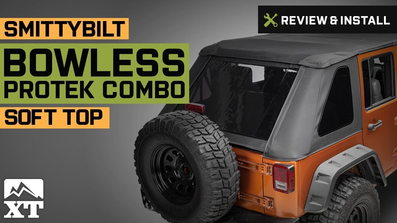 Jeep Wrangler Soft Top >> Jeep Wrangler Smittybilt Bowless Protek Combo Soft Top ...