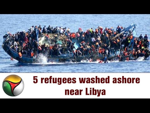 5 refugees washed ashore near Libya