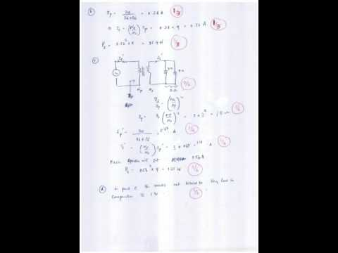 SLIIT  1st year 2015 final electrical paper with answere sheet