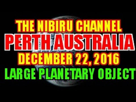 PERTH AUSTRALIA, LARGE PLANETARY OBJECT CAUGHT ON CAMERA