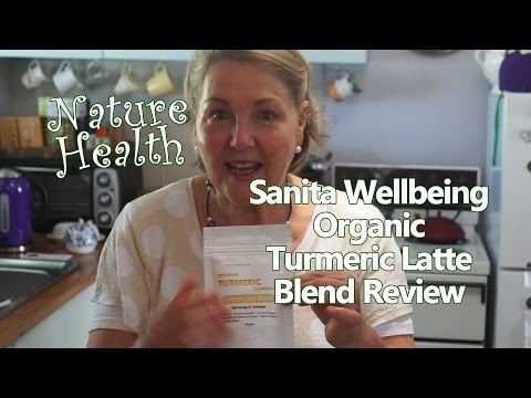 How to make Organic Turmeric Latte Coffee Blend - Sanita Wellbeing Turmeric product review