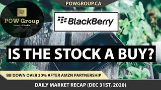 For a 7 day free trial to the pow group community visit: https://pursuitofwealthgroup.comblackberry limited (bb) stock is down over %30 after amazon partners...