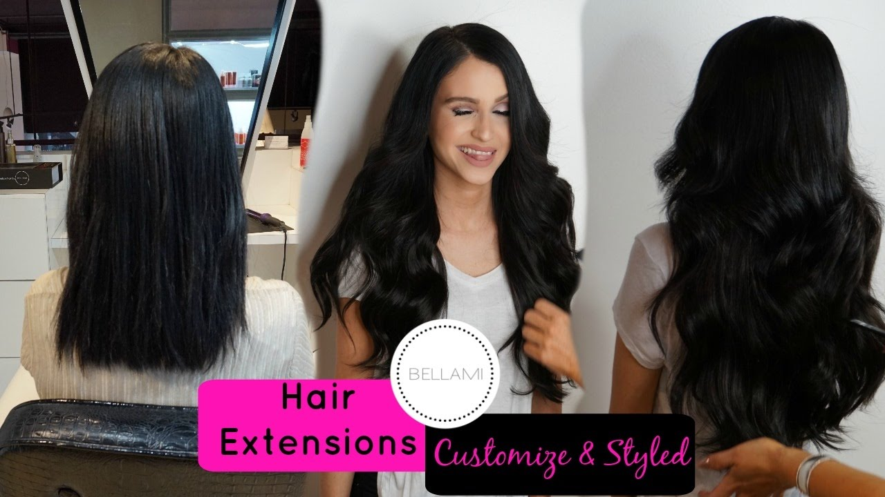 My Bellami Hair Extensions Customized   Styled ⎜Bellami Beauty Bar LA -  YouTube add810c8e