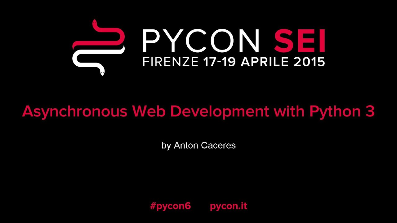 Image from Asynchronous Web Development with Python 3