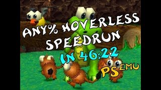 Croc: Legend of the Gobbos (ePSXe) - Any% Hoverless Speedrun in 46:22