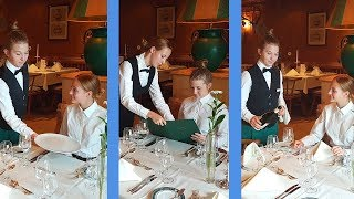 Waiter training: Steps of Service.  Live recording of waiting tables! Restaurant training video!
