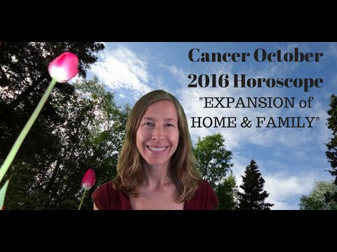 cancer october 2016 horoscope astrology forecast expansion of home family youtube. Black Bedroom Furniture Sets. Home Design Ideas