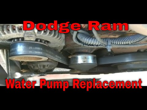How to replace a water pump Dodge Cummins