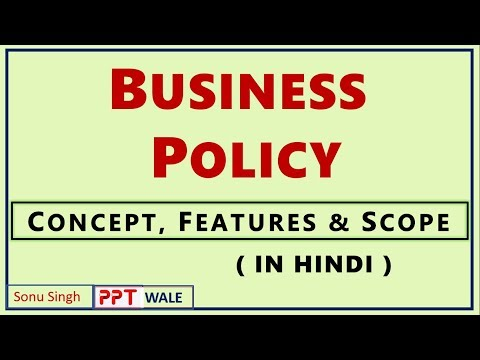 BUSINESS POLICY IN