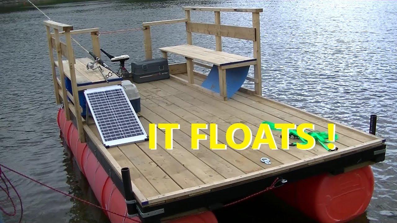 55 Gallon Barrel Pontoon Boat Dock Barge Upcycling Forum At