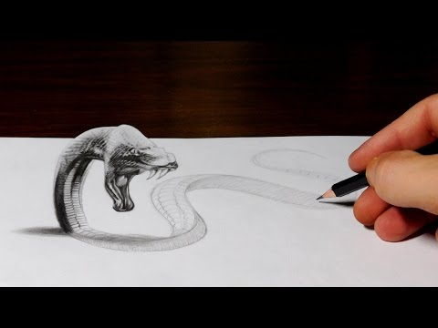 Thumbnail: Snake Drawing Comes to Life - 3D Trick Art