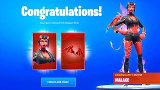 MALACE SKIN FREE Fortnite Battle Royale (How to get MALACE SKIN for Free), Free Skins Fortnite