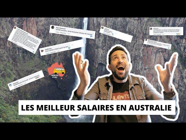 Les MEILLEURS salaires en AUSTRALIE #5  2021