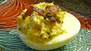 Bacon Deviled Eggs With Caramelized Onions Recipe Perfect For Easter