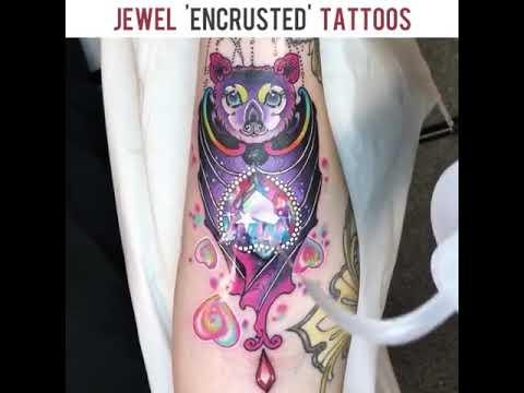Jewel 'encrusted' tattoos by Jenna kerr Tattoo