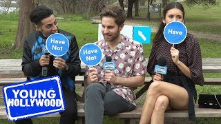Nina Dobrev, Mena Massoud, & Ben Platt Play Never Have I Ever!