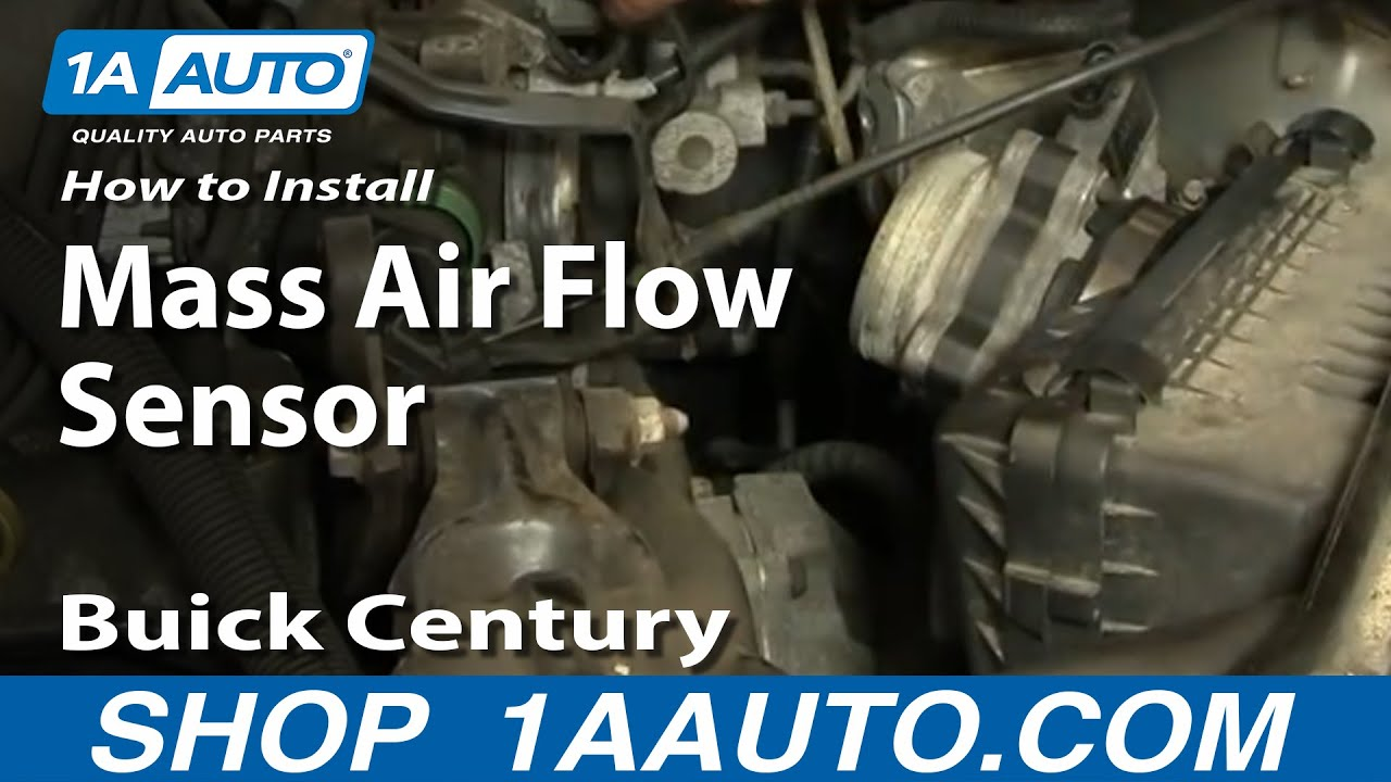 how to replace mass air flow sensor with housing 97-05 buick century